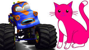 monster truck cartoon videos monster truck with cat game play monster truck compilation