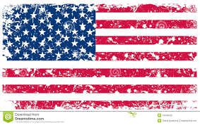 The Flag Of Usa Illustration Flag Of Usa In Retro Style Stock Vector
