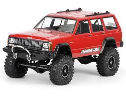 baja jeep cherokee pro line 1992 jeep cherokee 1 10 crawler body clear pro3321 00
