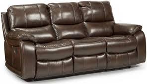 flexsteel latitudes woodstock double reclining sofa with pillow
