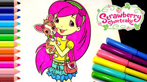 strawberry shortcake coloring pages for kids strawberry