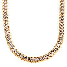 gold braided necklace images Braided links necklace in 14k gold bonded sterling silver jpg