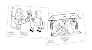Christmas Bible Coloring Pages Children Bible Stories Coloring Pages