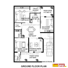 house blueprints maker house plan for 35 feet by 50 feet plot plot size 195 square yards