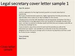 sample legal secretary resume legal secretary cover letter