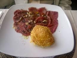 la veranda ranco carpaccio con pinoli e pate di olive picture of ristorante la