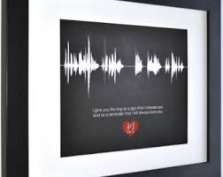 1st year anniversary gift ideas unique sound wave voice recording creative by creativewaveprints