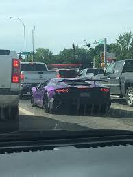lamborghini aventador purple purple lamborghini aventador sv in traffic spotted