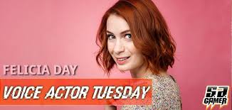 what is felicia day s hair color voice actor tuesday felicia day sa gamer