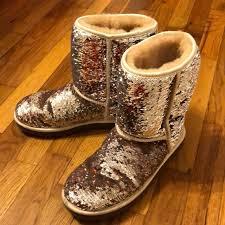 ugg shoes australia brown boots poshmark ugg shoes australian chagnebrown sequin boots poshmark