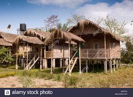 india assam majuli island tourism bamboo cottage bungalow