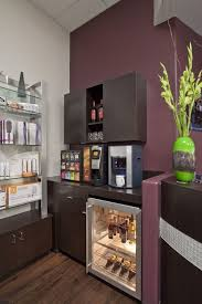 every salon needs a kick coffee station and this one even
