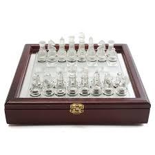 aliexpress com buy 32pcs 250x250mm international glass chess