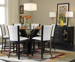 counter dining chairs homelegance daisy 7 piece round counter height set in dark brown
