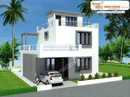 duplex house plan with garage stupendous modern design in 126m2 9m