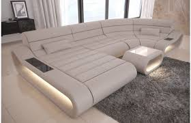 couch u form leder wohnlandschaft concept in u die moderne couch mit beleuchtung