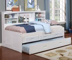 White Bookcase Headboard Twin Best 25 White Trundle Bed Ideas On Pinterest White Daybed With
