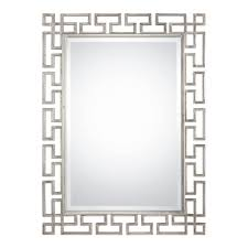 Uttermost Mirror Uttermost 09089 Agata Contemporary Lightly Antiqued Silver Leaf