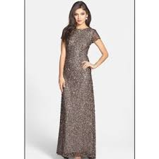 papell dress papell lead scoop back sequin gown 09187460 dress on tradesy