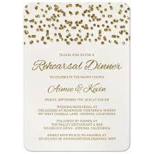 Dinner Invitation Rehearsal Dinner Invitations Glamorous Glitter Look Confetti Dots