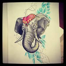 elephant tattoo design by kirtatas on deviantart