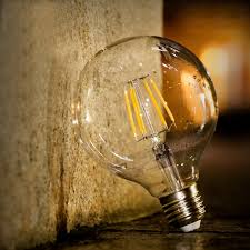 g25 led filament globe vanity dimmable light bulbs 5w energy