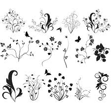 abstract floral ornaments vector vector graphics