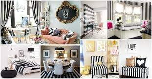 exquisite collection of black and white striped interior that will