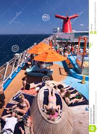 carnival cruise ship sunning on deck editorial stock photo carnival cruise deck dream hot ocean ship