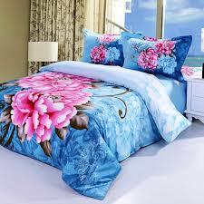 copriletti romantici twill 3d consolatore set reattiva tintura fiori versione grande