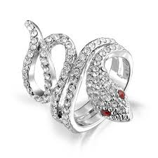 crystal pave rings images Pave crystal twisted snake ring red garnet color eyes jpg