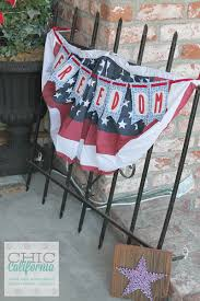 4th Of July Bunting Decorations Inspired Designs Monday Easy 4th Of July Decorating Chic California
