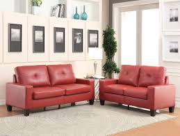 Red Loveseat Platinum White Sofa And Loveseat 15095
