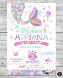 baby shower invitations under the sea mermaid birthday party invitation under the sea by generationsink