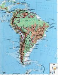 Geographical Map Of South America by South America Topography Of South America