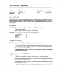 Free Fancy Resume Templates Fancy Resume Templates Latex 14 Cv Or Resume Resume Example