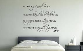ideas wall decorations for bedroom pertaining to wonderful