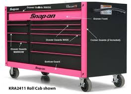 snap on tool storage cabinets guard set kra2411 series roll cabs pink