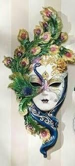 porcelain mardi gras masks plaster gauze mask use for theater mask
