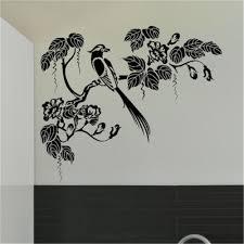 online get cheap tree wall sticker and stencil aliexpress com oriental style tree bird wall sticker decal art transfer graphic stencil children room animal wall stickers decorative