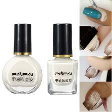8 10ml white peel off nail art tape latex skin protected liquid