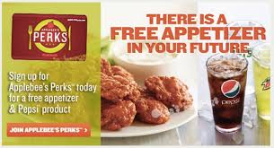 applebees coupons on phone applebees perks get a free appetizer and pepsi product