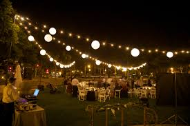 Outdoor Party Decorations by Outdoor Lighting String Outdoor Lighting On Summer Nights