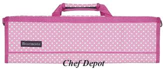 pink polka dots knife case in the kitchen pinterest chef