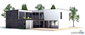 large contemporary home plan with four bedrooms open planning and