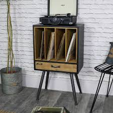 Record Storage Cabinet Industrial Retro Style Filing Cabinet With Storage Melody