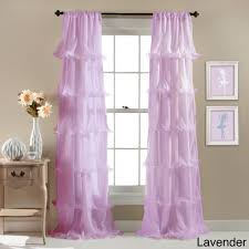 Ruffled Pink Curtains Lush Decor Nerina Ruffled Curtain Panel 54 X 84 Free Shipping