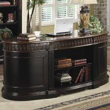 Home Office Double Desk by Nicolas Traditional Wood Oval Executive Double Pedestal Desk