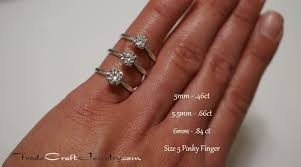 6mm diamond size comparisons with tradecraft jewelry