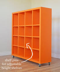 ana white build a 4 4 rolling cube shelf adjustable shelves